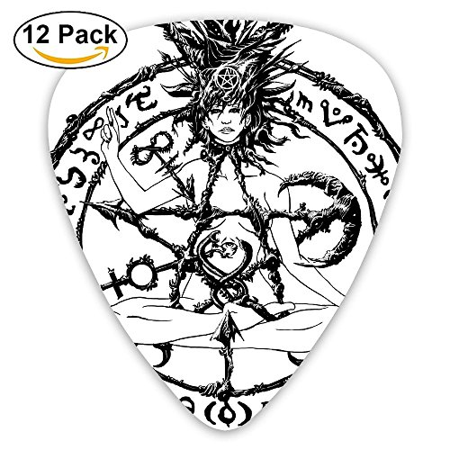 12-pack Fashion Classic Electric Guitar Picks Plectrums Satan Evil Symbol Sign Instrument Standard Bass Guitarist]()