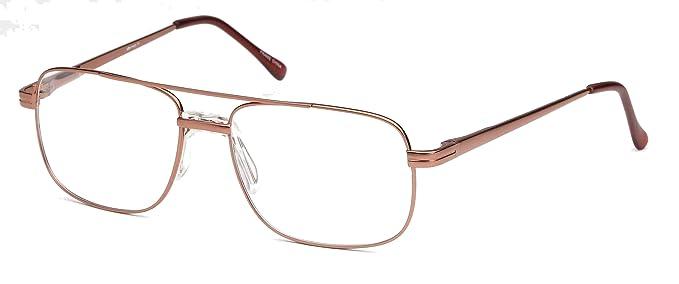 6cdaa938291e DALIX Mens Bridged Large Squared Prescription Rxable Optical Glasses Frames  (Copper)