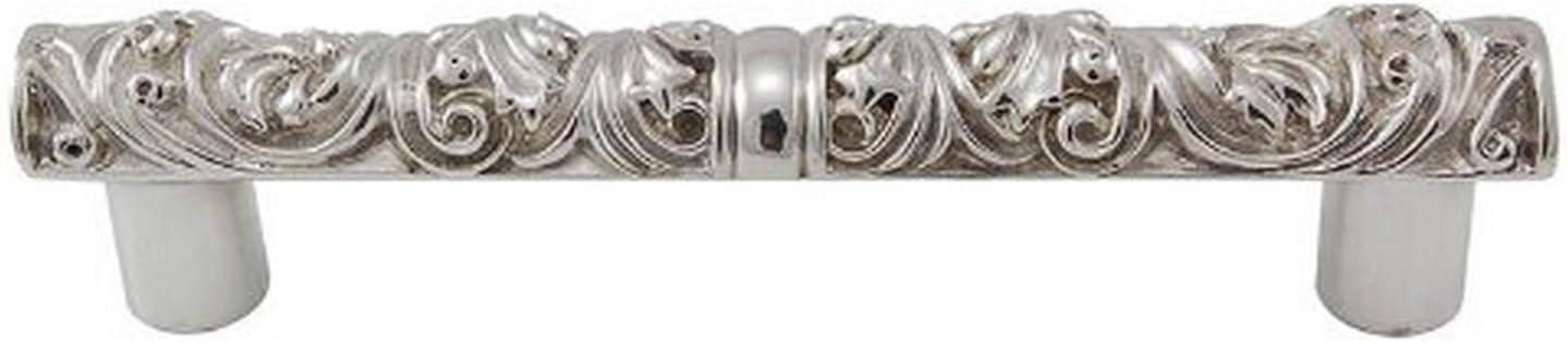 3-Inch Polished Nickel Vicenza Designs K1112 Liscio Pull