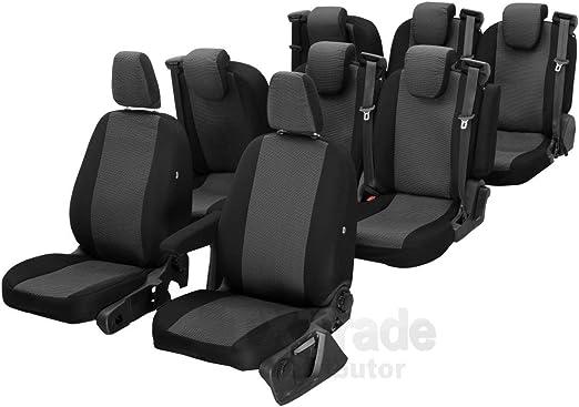 Z4l Sitzbezüge Hero Passgenau Geeignet Für Ford Transit Custom Ab 2012 8 Sitze 02 Auto