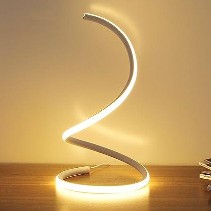 LOVELY Creativo LED lámpara de Mesa de aleación de Aluminio S-Tipo de Moda de Silicona Dormitorio Curvado lámpara de Noche lámpara de Ocio Sala ...