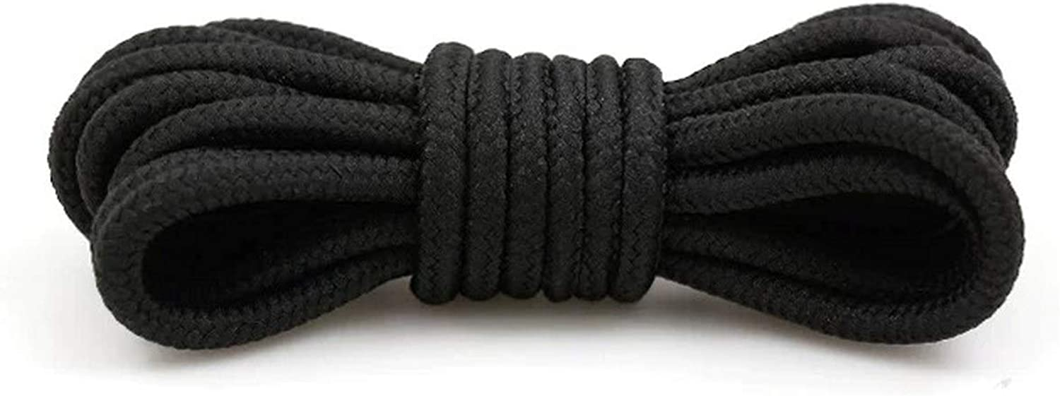 1Pair Round Shoelaces Polyester Solid Classic Martin Boot Shoelace Casual Sports
