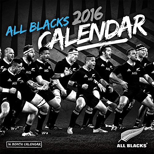 2016 ALL BLACKS RUGBY TEAM WALL CALENDAR - BrownTrout {jg} Great for mom, dad, sister, brother, grandparents, aunt, uncle, cousin, grandchildren, grandma, grandpa, wife, husband.
