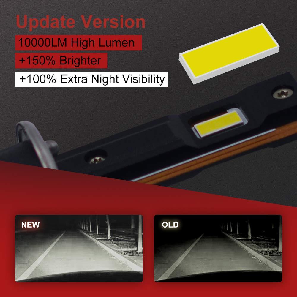 +150/% Brightness TOP XHP50.2 LED 10000lm 6000K Cool White HIKARI 2020 +100/% Extra Night Visibility H1 LED Headlight Bulbs