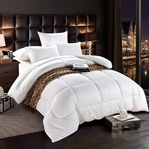 Bedding Homes 100/% Organic Cotton 500 GSM Box Stitched Comforter 600 TC GOTS Certified Luxury Light-Weight Italian Finish Quilt Cozy Ultra-Soft Fluffy by Full//Queen, Chocolate