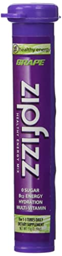 Zipfizz Grape Healthy Energy Drink Mix – Transform Your Water Into a Healthy Energy Drink – 30 Grape Tubes