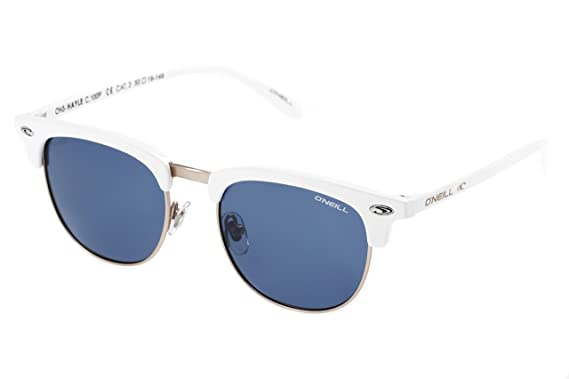 bcf32faa7ef Amazon.com  O Neill Hayle 100p Gloss White Polarized Sunglasses Round