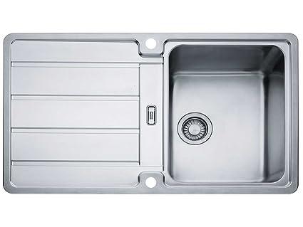 Lavelli Cucina Acciaio Inox Franke.Franke Hydros Hdx 614 Lavandino In Acciaio Inox Liscio Da Cucina