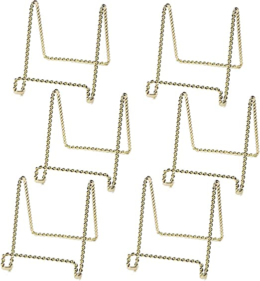 2 Photo Twisted Wire Display Easel Stands 4 black