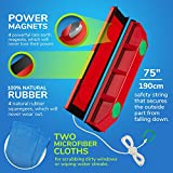 Tyroler Bright Tools The Glider D-3, Magnetic Window Cleaner for Double Glazed Windows Fit to 0.8'-1.1' Window thickness.