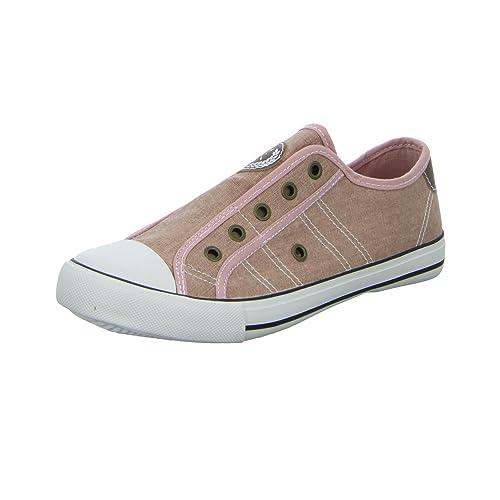 Sneakers - Mocasines para mujer, color rojo, talla 39 EU