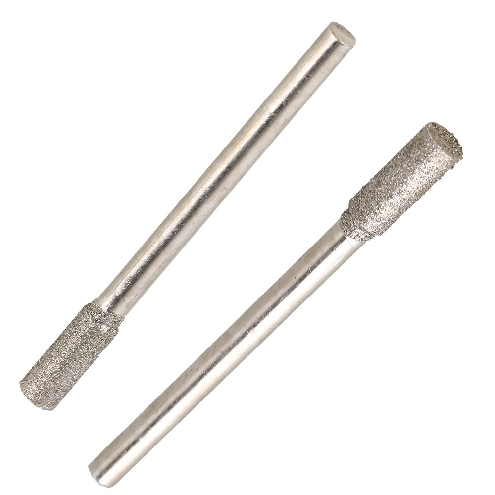 4mm Cylinder Head Grinding Bits 3mm Shank 20pcs Diamond Grinding Head Rod