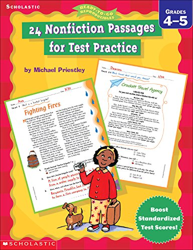 24 Nonfiction Passages for Test Practice (4-5) (Ready-To-Go Reproducibles)