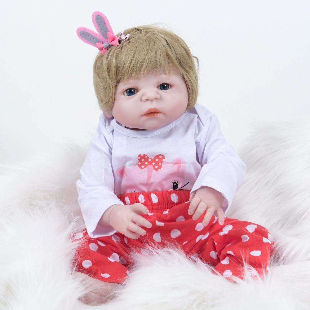 bf286ace Hongge Reborn Baby Doll,Muñeca Reborn realistas bebé recién Nacido Nacido  Nacido Puede bañarse Completo de Silicona muñeca niños Juguetes Mejor  Regalo de ...