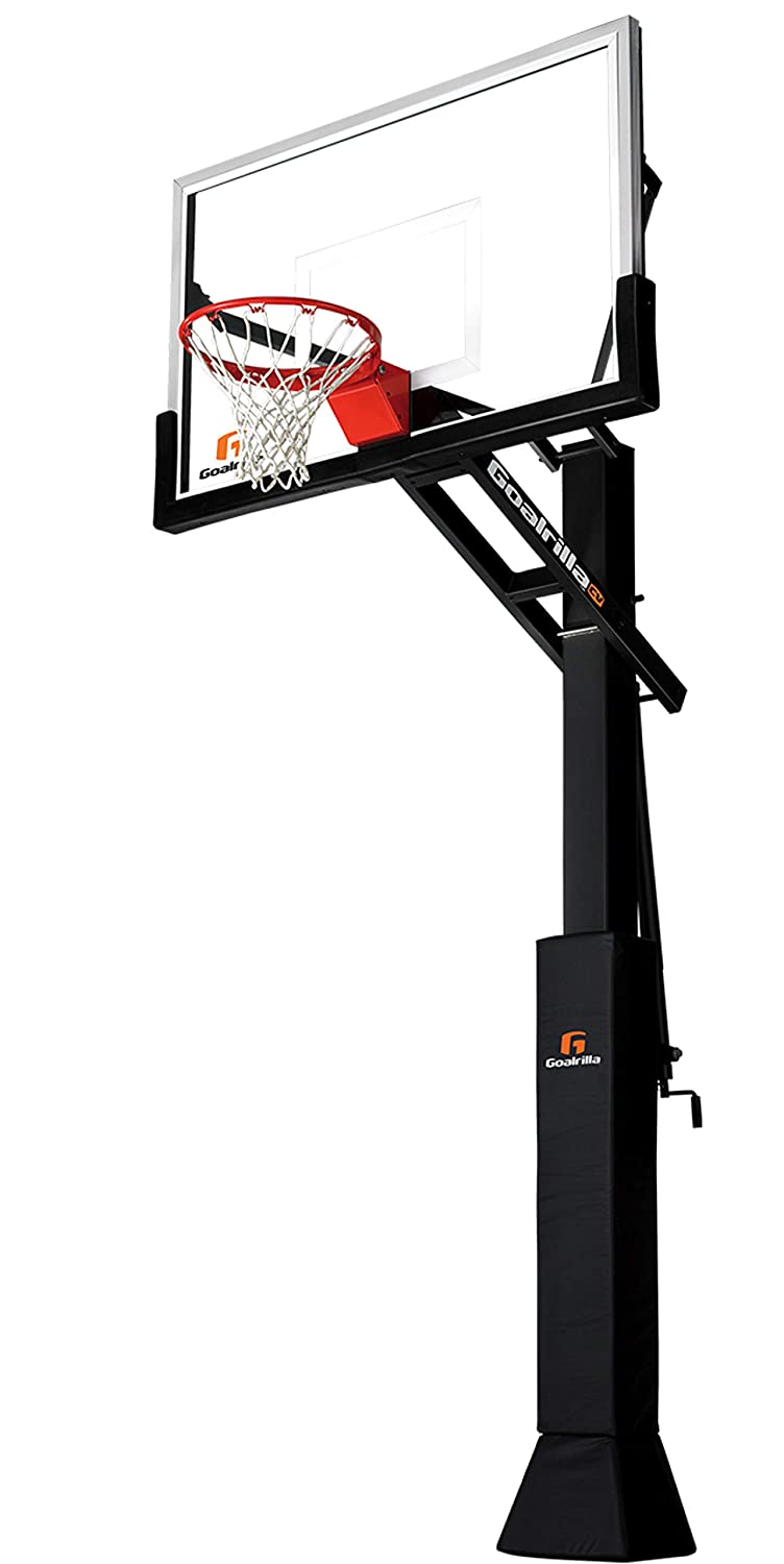 "Goalrilla CV Adjustable-Height Basketball Hoop with Clear View Tempered Glass Backboard (Available in 54"", 60"", and 72"")"