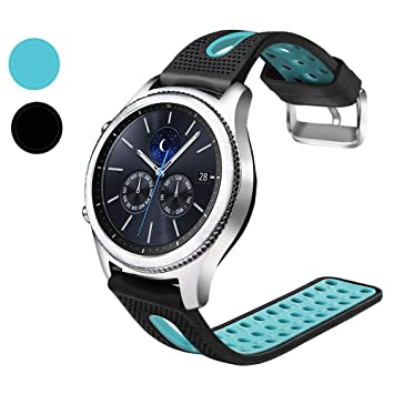 Nigaee 20mm 22mm Silicone Smart Watch Bands Universal Quick Release Replacement Soft Sport Band with Breathable Holes, Contrast Color Straps for ...