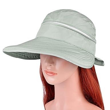 Vbiger Visor Hats Wide Brim Cap UV Protection Summer Sun Hats For Women  (Grey) 91ac5be19b6