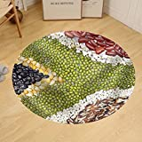 Gzhihine Custom round floor mat Africa Flag Food on White Background