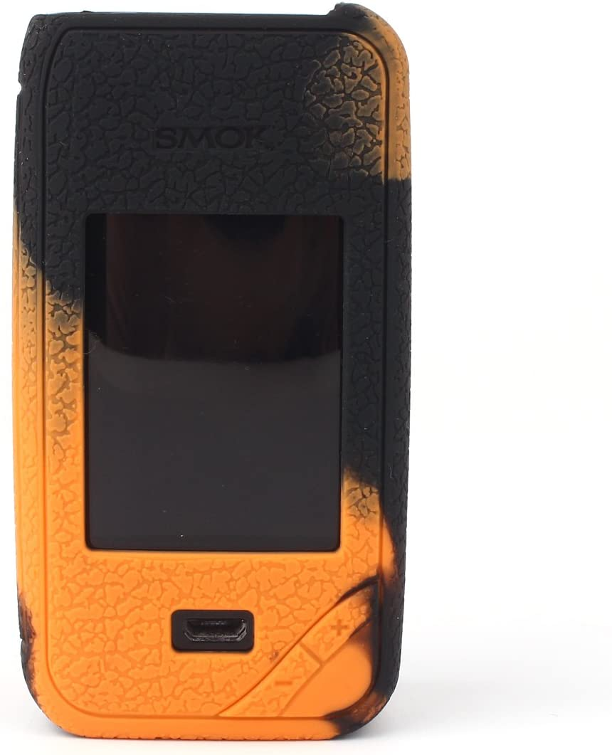 CEOKS para Smok Xpriv 225W Kit Protector de Silicona Caso de protección Smok X-priv 225W Kit Mod Box Piel Caso Cubrir Abrigo de la Manga (Negro/Naranja): Amazon.es: Electrónica