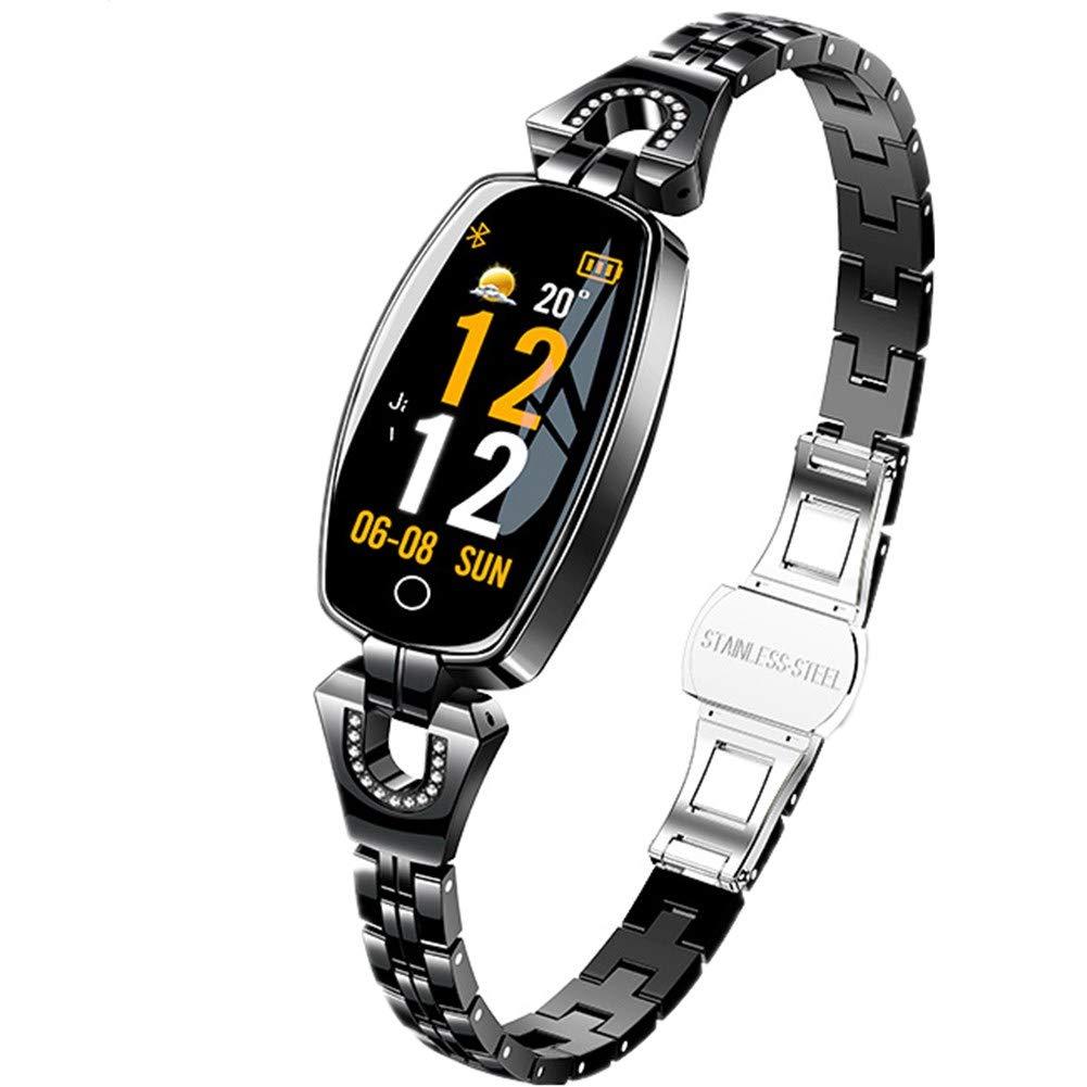 Women's Smart Watch - Sports Health Tracker with Heart Rate Blood Pressure Monitoring Bracelet-Black by SPORS
