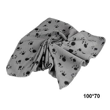 wildlead - Manta para Perros y Gatos con diseño de Huellas de Huellas para Cama de Perro Grande, Toalla de baño, cojín: Amazon.es: Productos para mascotas