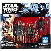 Star Wars: Rogue One, Exclusive Action Figure Set (Sergeant Jyn Erso, Captain Cassian Andor and K-2SO), 3.75 Inches