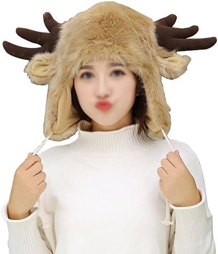 scarf and mitten Hand Warmer Fun Soft Faux Fur Moose Reindeer Wild Animal hat