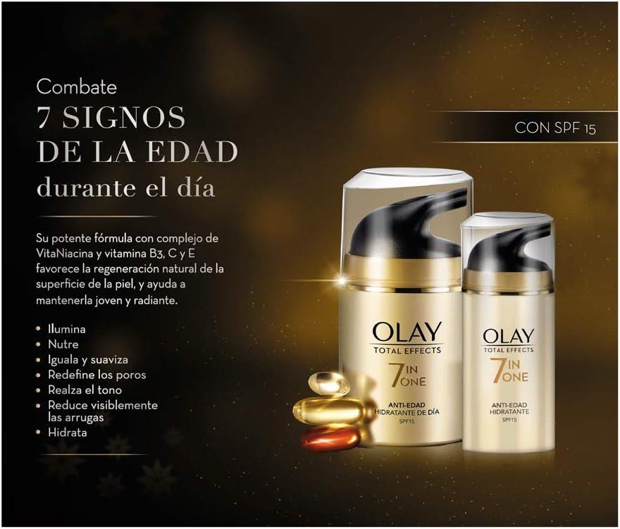 Olay Pack Regalo Anti-Edad Día Total Effect 7 En 1 SPF 15 50 ml + 15 ml: Amazon.es: Belleza