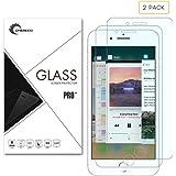 iPhone 8Protection d'écran, Latec 2-pack protection d'écran en verre trempé premium pour Apple iPhone 8, 0,26mm Dureté 9H HD clair, anti-rayures et anti-traces, sans bulles