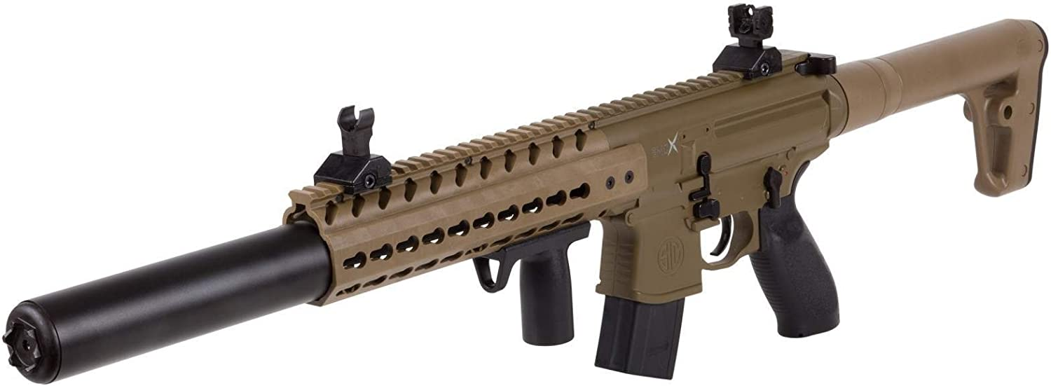 Sig Sauer MCX .177 Cal CO2 Powered Air Rifle 30 Rounds , Flat Dark Earth