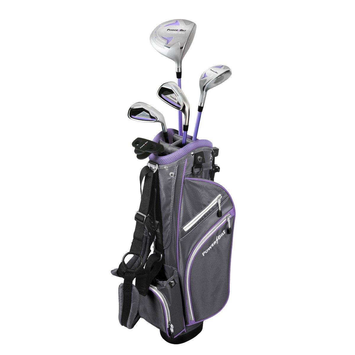 Powerbilt Junior Kids Girl's Ages 9-12 Golf Club Set, Right Hand, Lavender