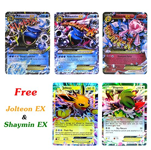 New Mega Cards EX Blastoise - Diancie with Free Jolteon - Shaymin EX Trading Card Games each Cards under 5 Dollars with Box and Cards Sleeve Fast Shipping (Spirit Halloween Promo Codes)