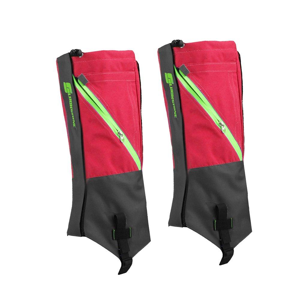 1 Pair Waterproof Snow Legging Gaiters Leg Covers Rugged Outdoor Walking Hiking Climbing (Black Grey) Generic