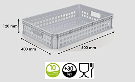Heavy Duty Plastic Stacking Industrial Euro Storage Containers Boxes