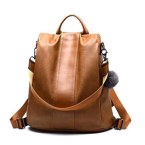 Valleycomfy - Bolso Mochila para Mujer Marrón marrón Talla única