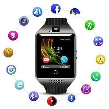 Montre Connectée pour Android avec Caméra/Slot de SIM SD Carte,Qimaoo Q18 Écran