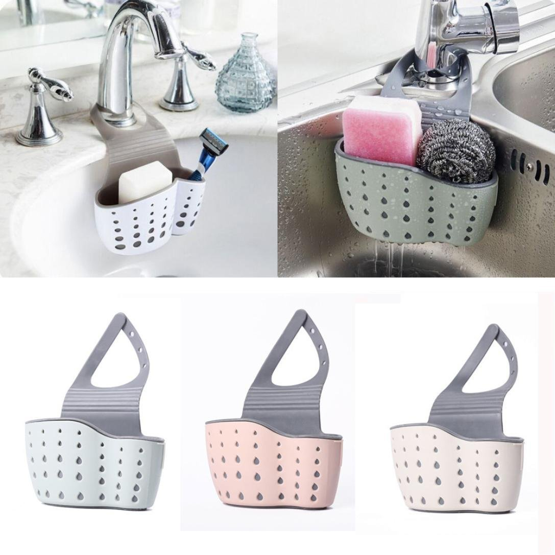 Aardich Hunpta Sink Shelf Soap Sponge Drain Rack Bathroom Holder Kitchen Storage Suction Cup C