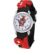 CLOUDWOOD Spiderman Analogue Multicolour Dial Boy's and Girl's Wrist Watch (Black)