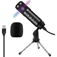 Micrófono PC, ARCHEER Micrófono USB de Condensador Plug & Play con Soporte de Trípode para Grabación Vocal/Skype…
