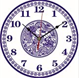 11.8 Inch Clock European Style Creative Wooden Clock Fashion Home Electronic Clock (Chinese dragon)