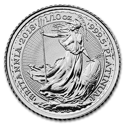 2018 UK Great Britain 1/10 oz Platinum Britannia BU Piece Brilliant Uncirculated (Platinum Bullion)