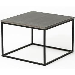 ComptoirXL Table Basse Design ELESIA Noir et Gris