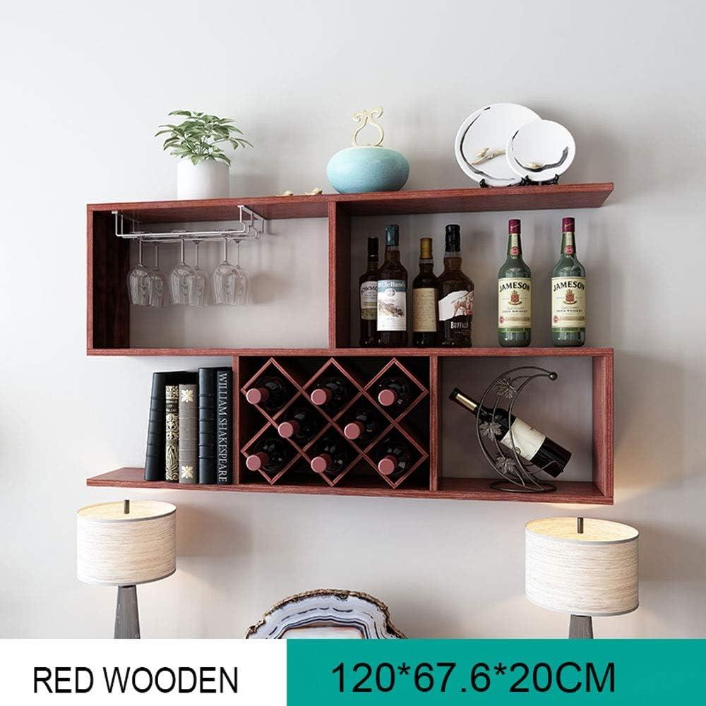 Wine rack-BYTGK Estante del Vino montado en la Pared de ...