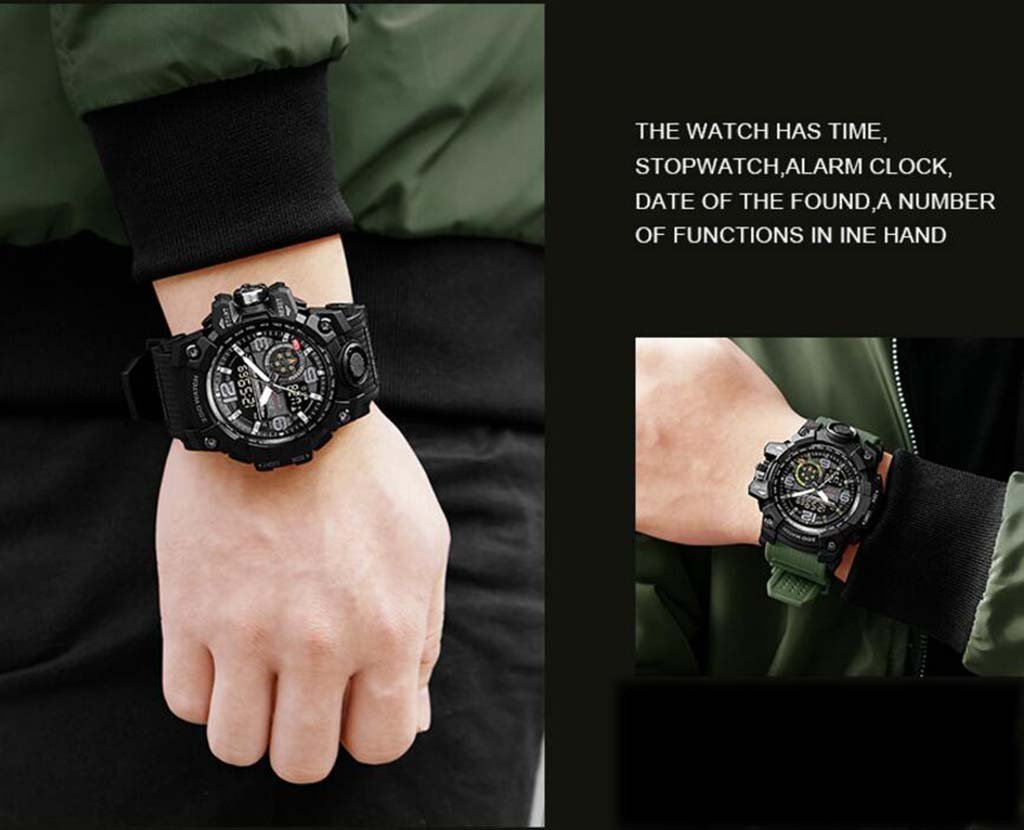 Amazon.com: Electronic Watch Male Multi-Function Special Forces Mechanical Sharp Edge Attack Tactical Military Watch Sports Middle School Student ...