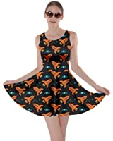 CowCow Womens Mrs Frizzle Space Weather Science Nature Clock Marine Skater Dress, XS-5XL