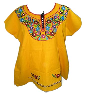 3bade6cc5bd Women s Mexican Embroidered Cotton CAMPESINA (Peasant) Traditional Blouse