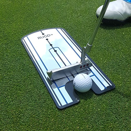 RUGD Sports: GENIUNE Putting Alignment Mirror - Golf Training Aid With 6-inch Tempo Drawback Marker (Golf Mirror Training)