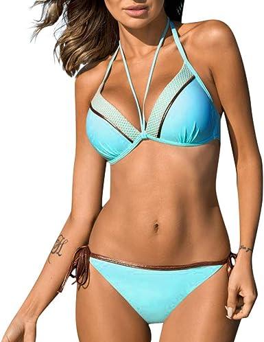 Women Bikini Set Push up Padded Bra Swimsuit Bathing Swimwear Beachwear Bandage