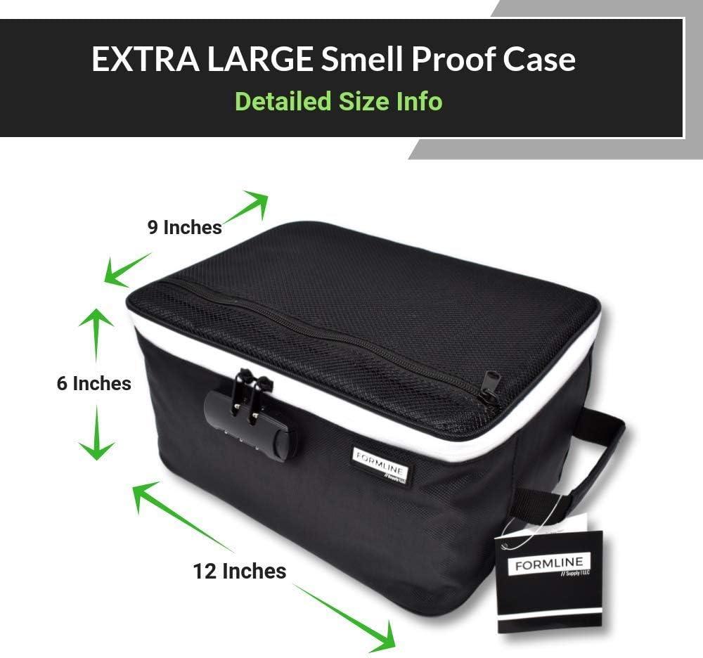 """Lignes d/'approvisionnement odeur proof Sac avec serrure à combinaison 8/"""" x 6/"""" x 3/"""" Premium odeur"""