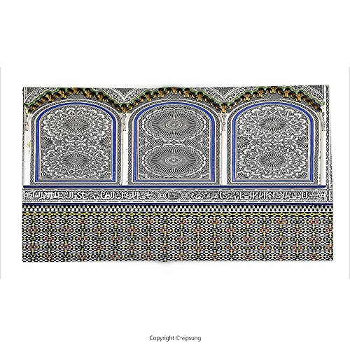 Custom printed Throw Blanket with Arabian Decor Nostalgic Moroccan Architecture with Stone Carving and Motifs Majestic Ottoman Empire Artsy Decor Mult Super soft and Cozy Fleece Blanket by vipsung